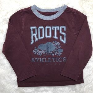 Roots Long Sleeved Burgundy Shirt Size 3T